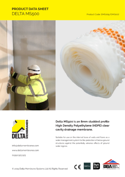 Delta MS 500 Product Data Sheet