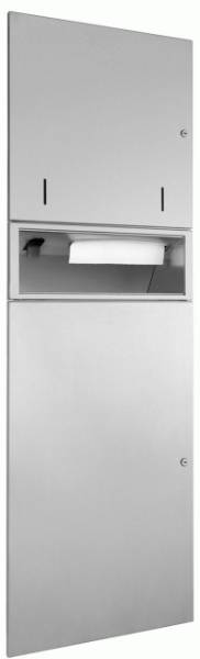 DP4312 Dolphin Prestige Combination Paper Towel, Soap Dispenser and Waste Bin