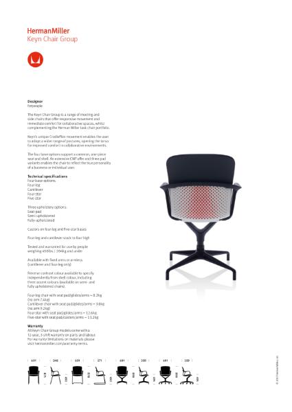 Keyn Chair - Product Sheet