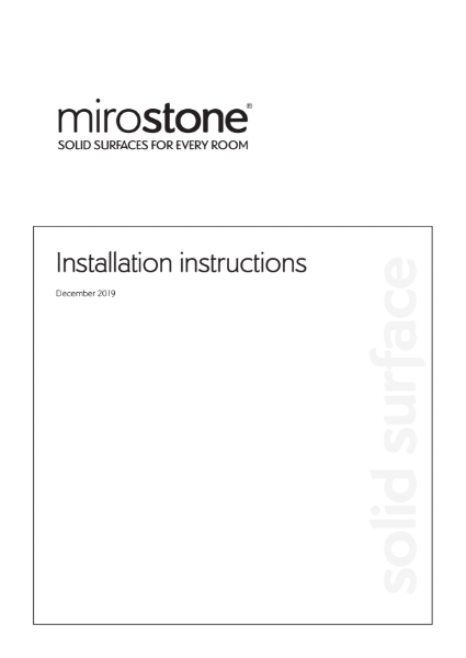 Mirostone Installation Instructions