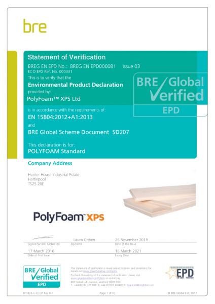 EN 15804:2012 Certificate