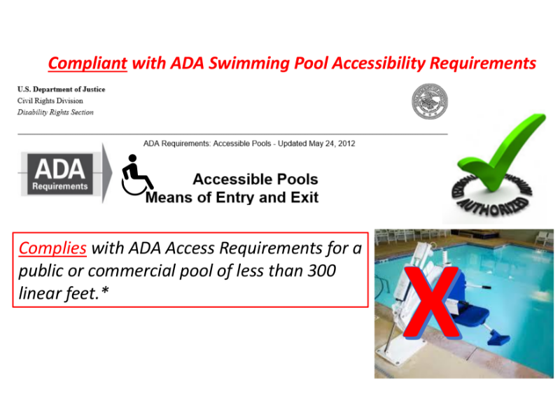 Compliance with ADA Swimming Pool Accessibility Requirements