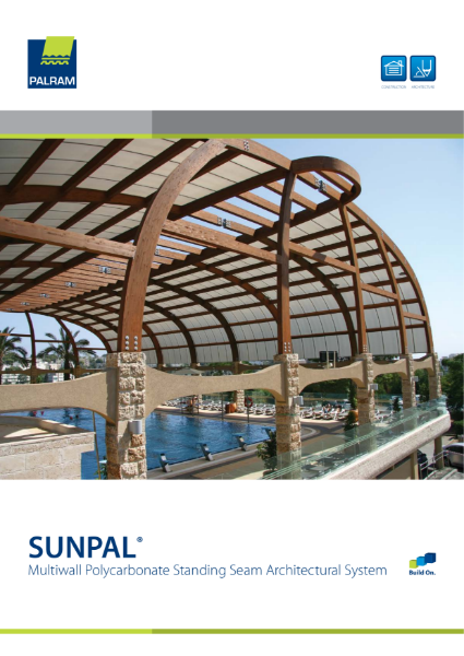 Sunpal - Multiwall Polycarbonate Standing Seam Architectural Glazing System