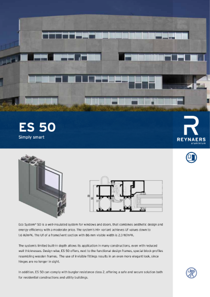 Aluminium Window and Door System - Eco System ES 50