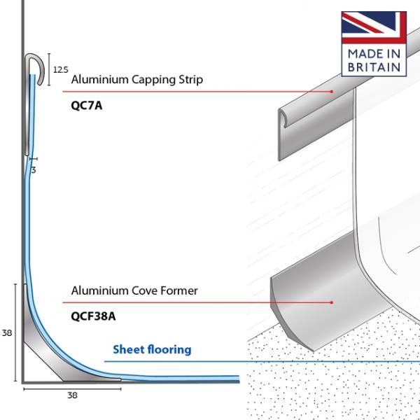 Aluminium Capping Strip - QC7A
