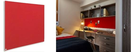 Sundeala Fire Rated Noticeboard - Frameless with Fabric