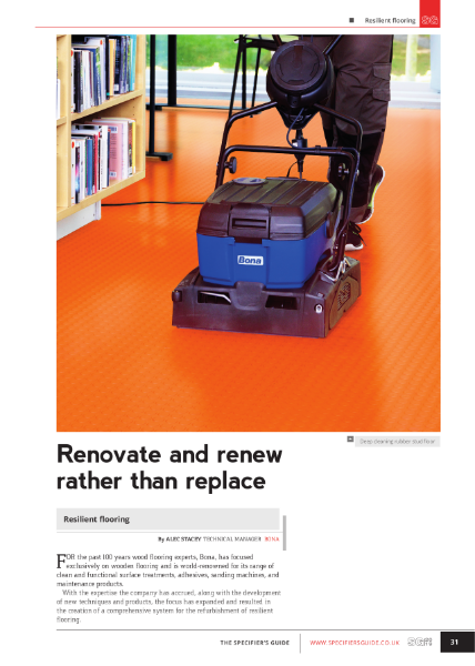 Resilient Floors - renovate and renew rather than replace