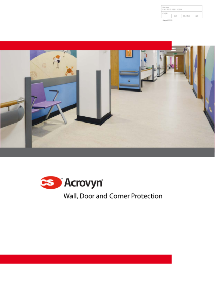 CS Acrovyn Wall, Door and Corner Protection