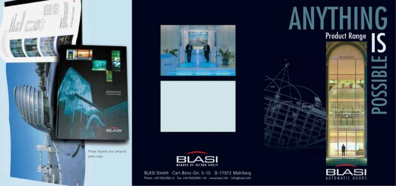 record Blasi Automatic Doors - Anything is Possible Product Range