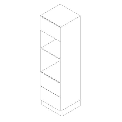 Tall Cabinet, Appliance 1 Door and 2 Drawer