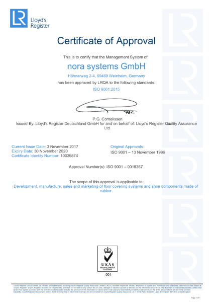 nora ISO 9001