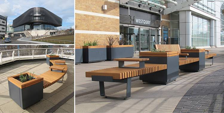 RailRoad seating & planters perfect solution for Westquay Shopping Centre