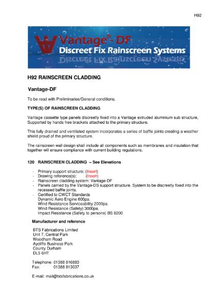 BTS Fabrications Discreet Fix Rainscreen System