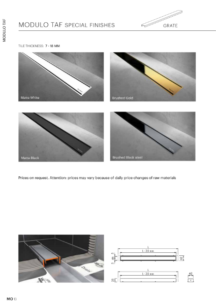 Modulo special finishes