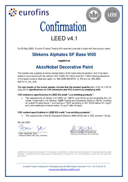 392-2020-00216701_LA_EN_AkzoNobel Decorative Paints_LEED Attestation (SAX - W)