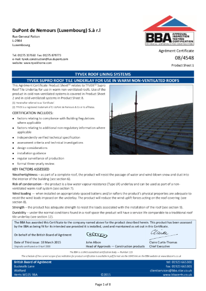 084548_1 Tyvek Supro warm roof
