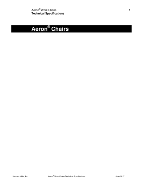 Aeron Chair - Technical Specification