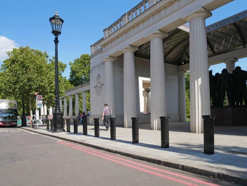 Bollard sleeves for Bomber Command Memorial, London