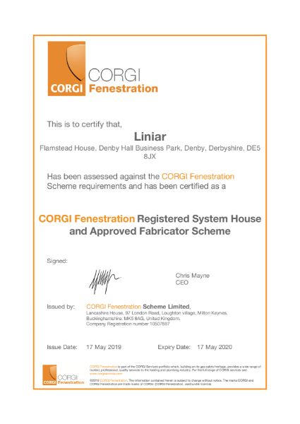 CORGI Fenestration Registration