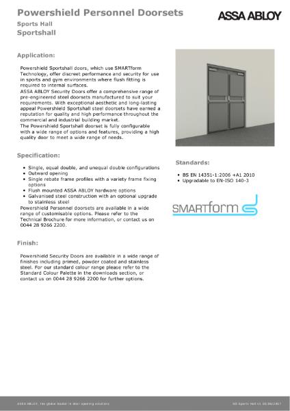 Sportshall - Powershield Personnel Doorsets
