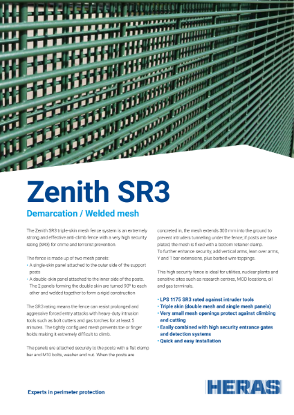 Welded Mesh SR3 Fence