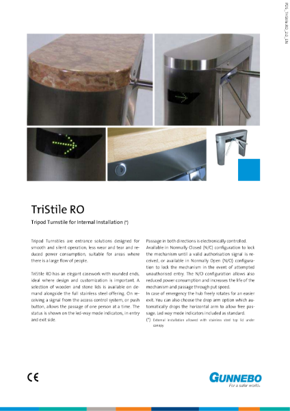 Tripod Turnstile - TriStile RO