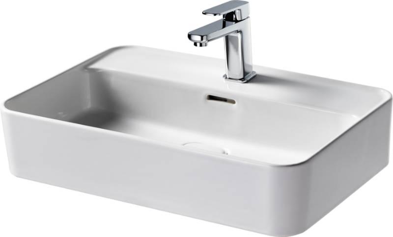 Fusaro Vessel Basin 60X40 White OF 1TH Rect