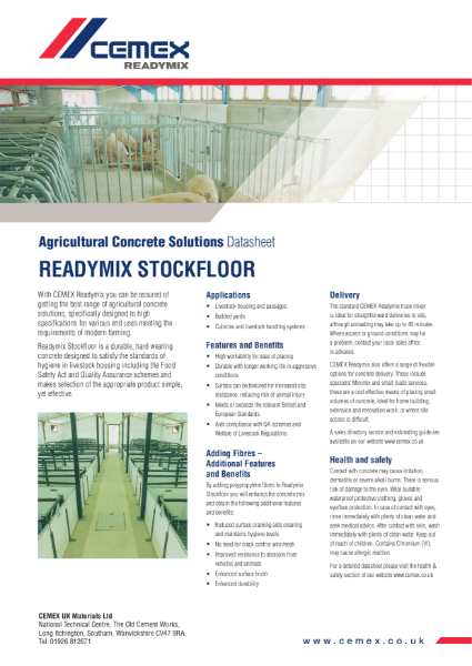 Stockfloor - Agricultural Concrete