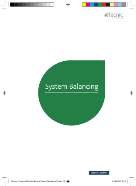 System Balancing - Altecnic Commercial Guide