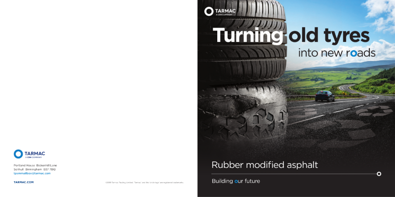 Rubber Modified Asphalt - recycled tyres in roads