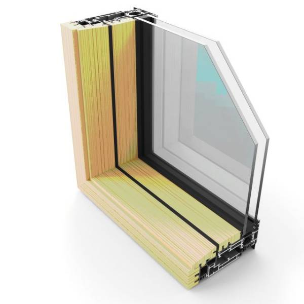 Hybrid Series 2 Composite Thermally Broken Sash Window System [Wall Placement]