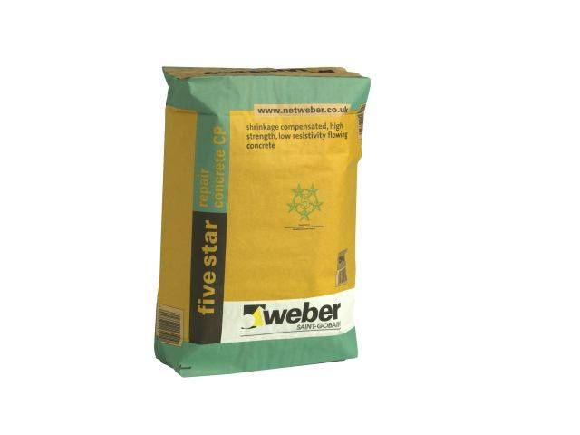 webercem five star repair concrete CP