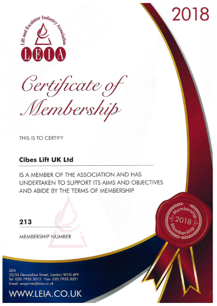 LEIA Certificate of Membership