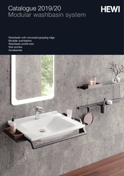 Modular washbasin system