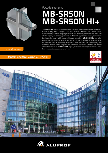 MB-SR50N Curtain wall system - Product information