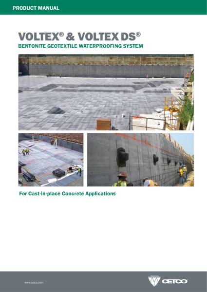 VOLTEX® & VOLTEX DS® - BENTONITE GEOTEXTILE WATERPROOFING SYSTEM