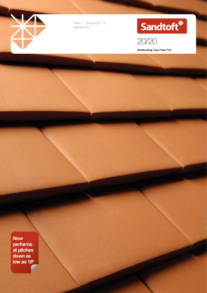 20/20 New Generation Interlocking Clay Plain Tile