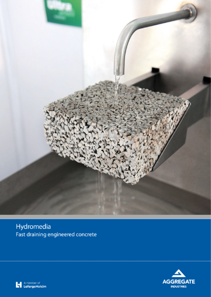 Hydromedia® fast draining concrete