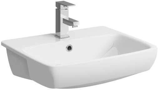 e100 Square Semi-recessed Washbasin