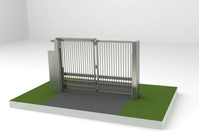 PAS68 Bi-Folding Speed Gate