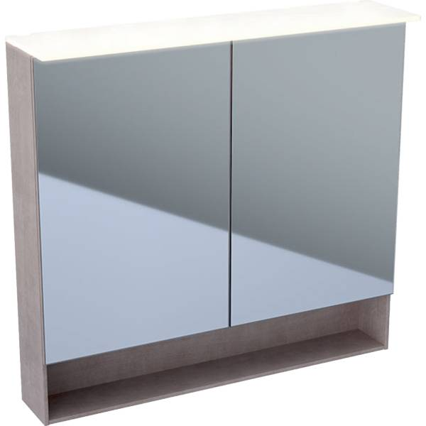 Acanto mirror cabinet with lighting and two doors