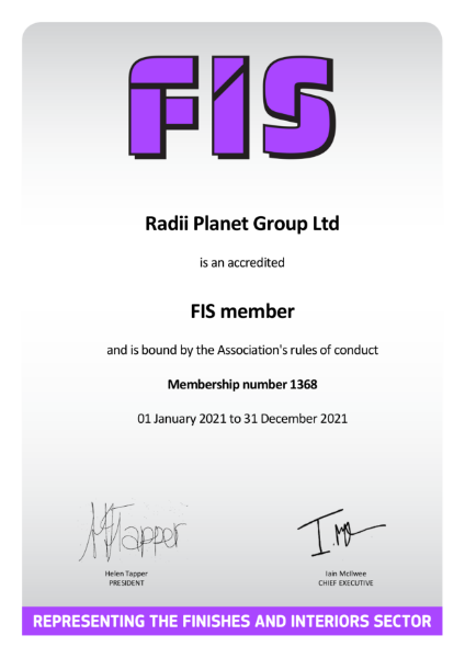 FIS Membership Certificate
