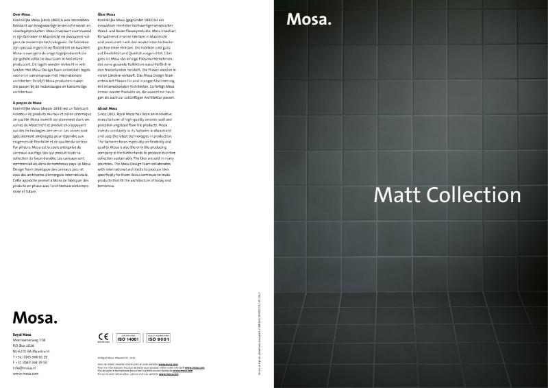 09. Mosa Matt collection - Matt finish for walls