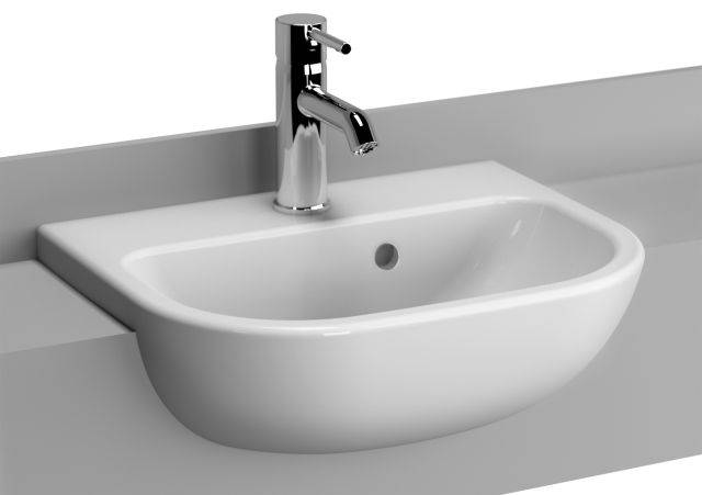 VitrA S20 Semi-recessed Basin, 45 cm, 5521