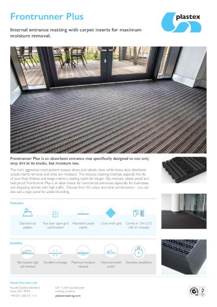 Plastex Frontrunner Plus Datasheet