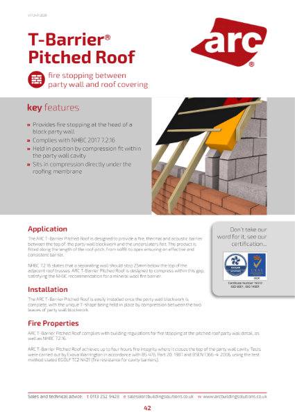 ARC T-Barrier Pitched Roof
