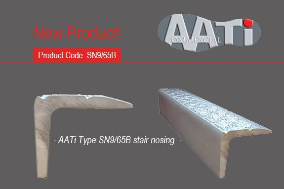 AATi New Cast Metal Antislip Stair Nosing - SN9/65B for Here East - Queen Elizabeth Olympic Park, London.