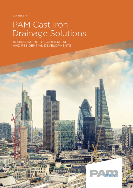PAM cast iron drainage solutions adding value to Commercial and residential developments