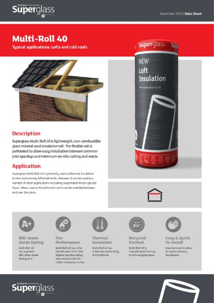 Superglass Loft Insulation