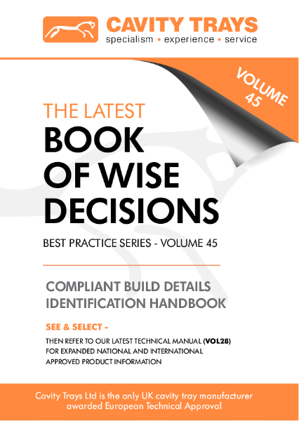 Cavity Trays Ltd Pocket Guide - The Book of Wise Decisions Best Practice Guide